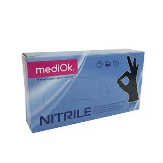 Перчатки нитриловые неопудр S MediOk